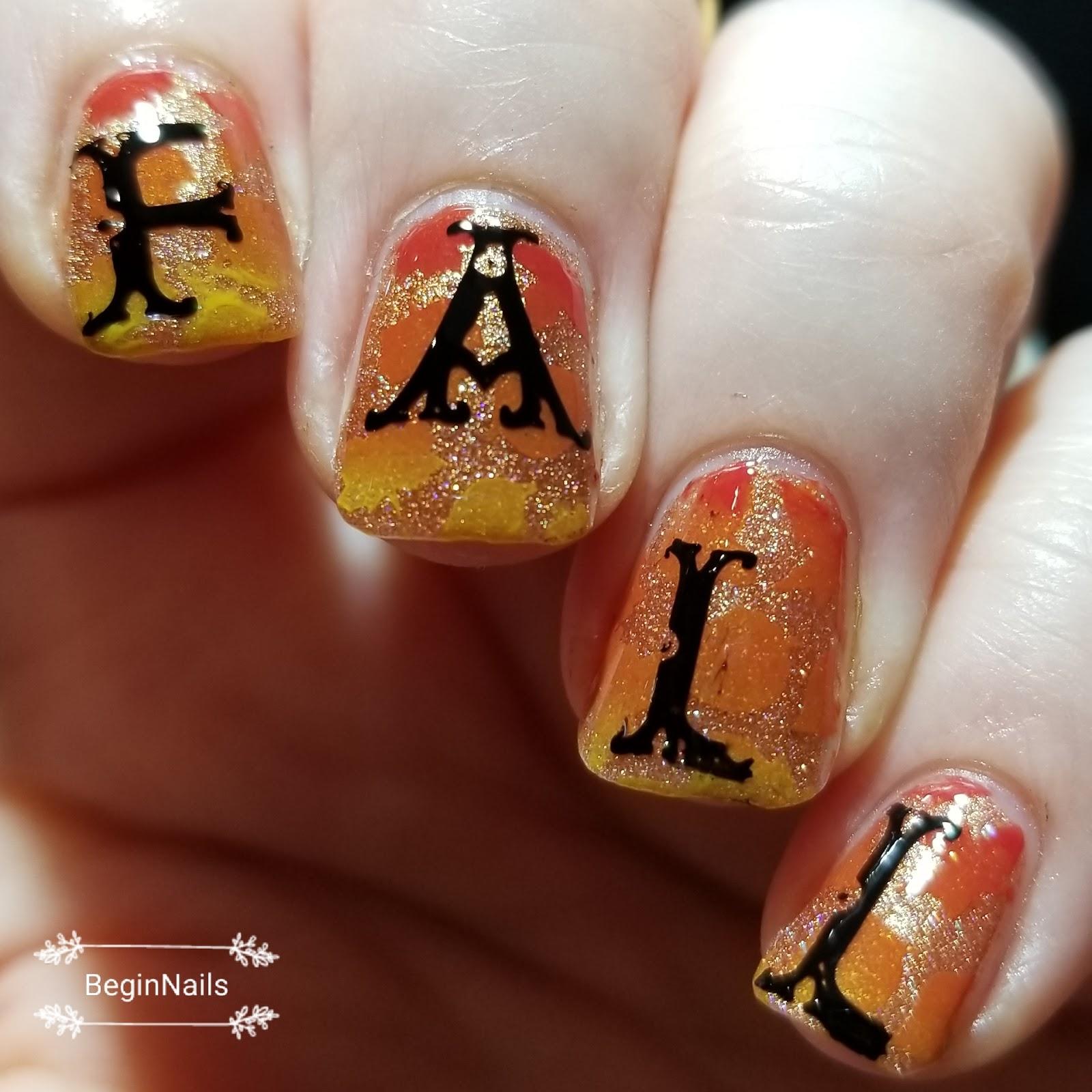 Let\'s Begin Nails: The Nail Art Squad - Fall Decor