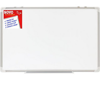 Dry Erase Board 24x36 | LARGE Magnetic Whiteboard with Aluminum Frame | Dryerase Marker Boards for Office Bulletin or Calendar | Melamine Perfect for Easel and Universal Black Erasers Markers