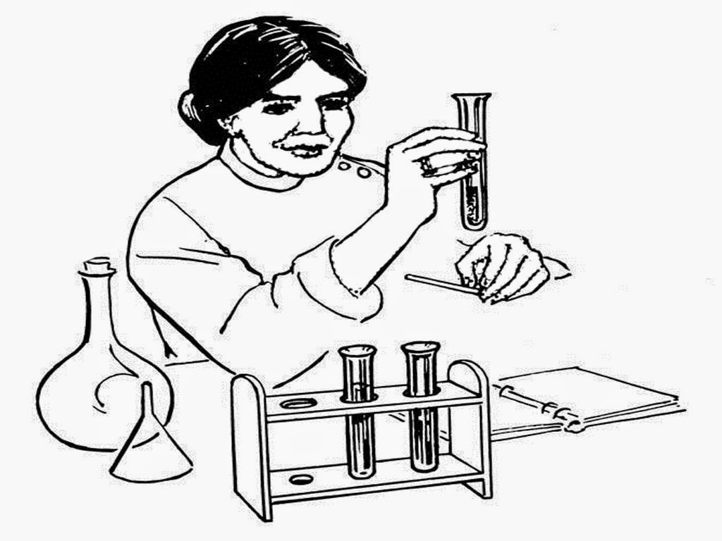 Scientist Coloring Pages Realistic