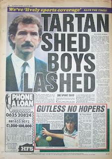 Back page of the Sunday Sport newspaper dated 28th June 1987