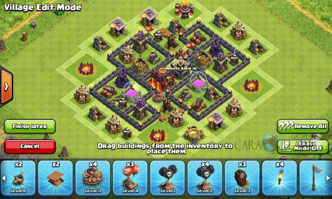 pertahanan terbaik untuk base war th 6 di clash of clans 19