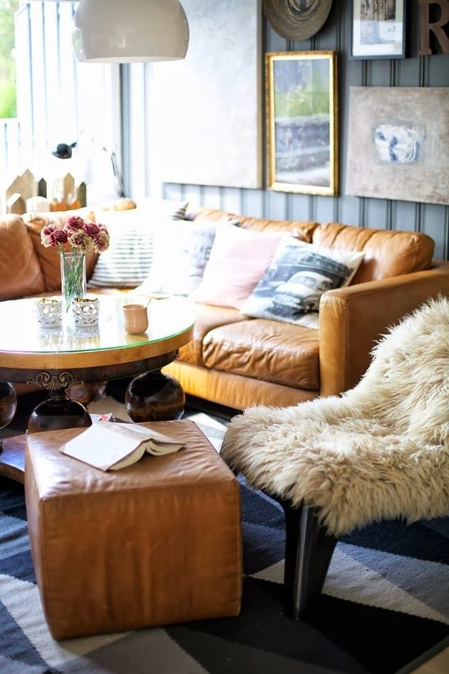 Mink Living Room Decor: FRESH + TWIST : Decorating With Sheepskin & Faux Fur