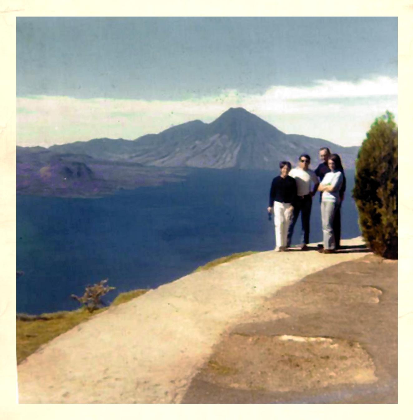 Dad & Me at right, at Atitlan Lake, Guatemala January 1971