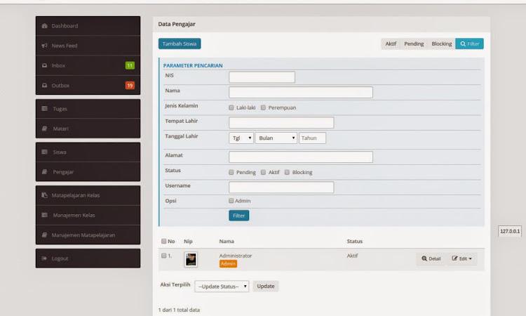Source Aplikasi E-learning Dengan Codeigniter