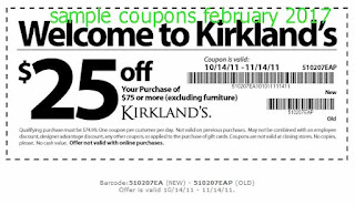 Kirklands coupons february 2017