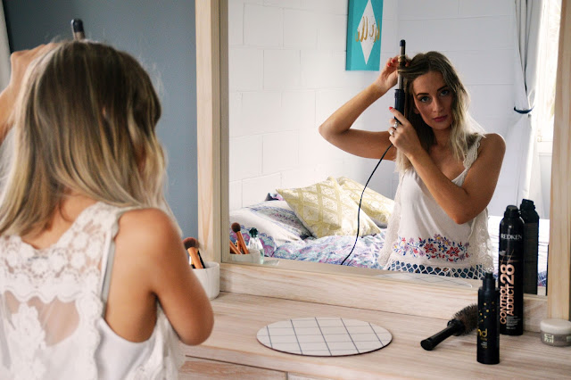 how to get loose waves in a lob long bob using curling iron