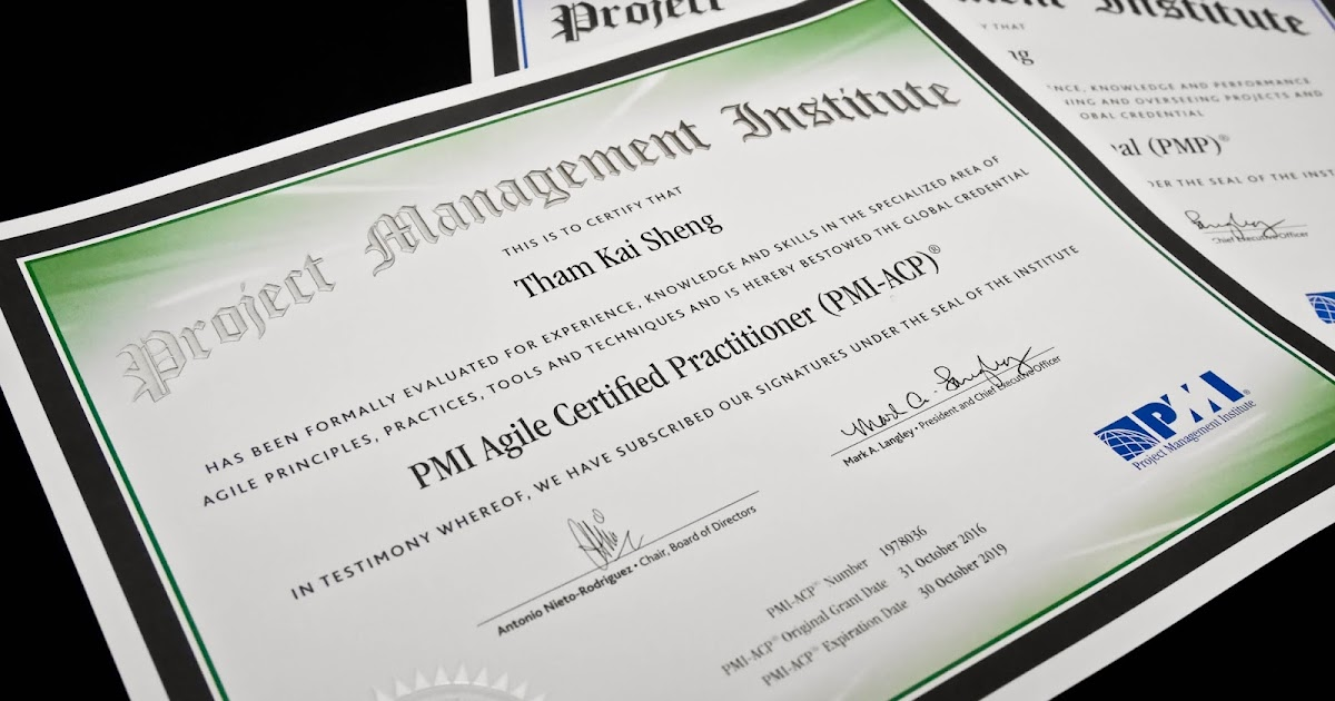 PMI Agile Certified Practitioner (PMI-ACP) - Javin Tham