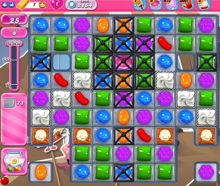 Candy Crush Saga level 2154