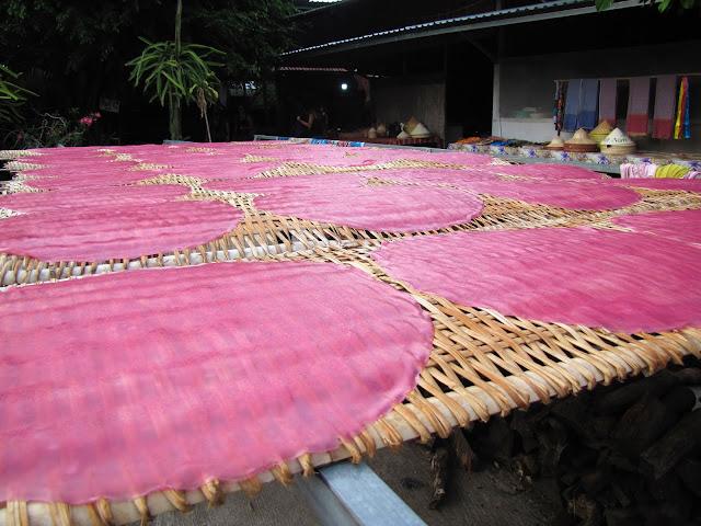 raice noodles sheets mekong delta vietnam
