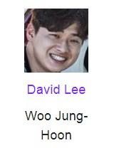 David Lee beperan sebagai Woo Jung-Hoon