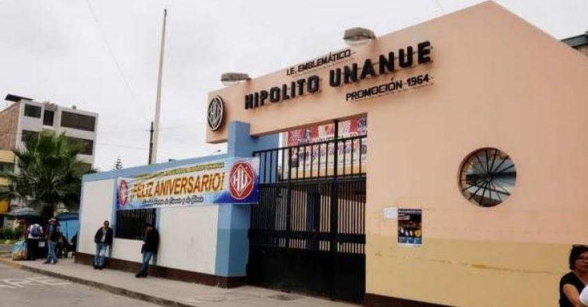 Estudiante acusado de dopar a sus compañeras no será expulsado del colegio emblemático Hipólito Unanue, en el Cercado de Lima