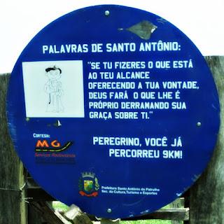 Placa de Nove Quilômetros - Caminho de Santiago, Santo Antônio da Patrulha