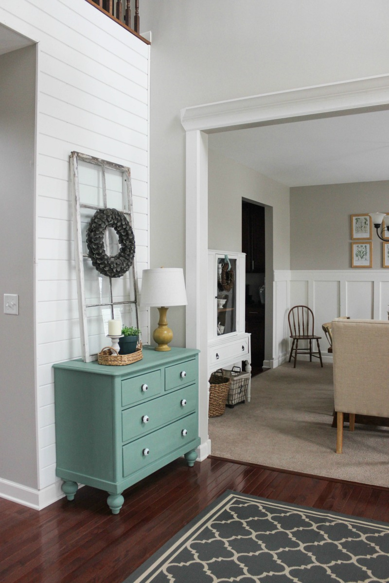 Delightfully Farmhouse Flavored Home Tour - Farmhouse Entry Dining Room Decorating Ideas