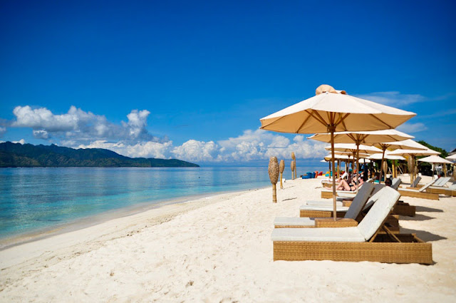 Pantai Gili Trawangan, Lombok, Indonesia