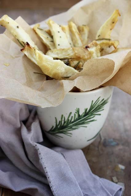 rosemary scented celeriac chips