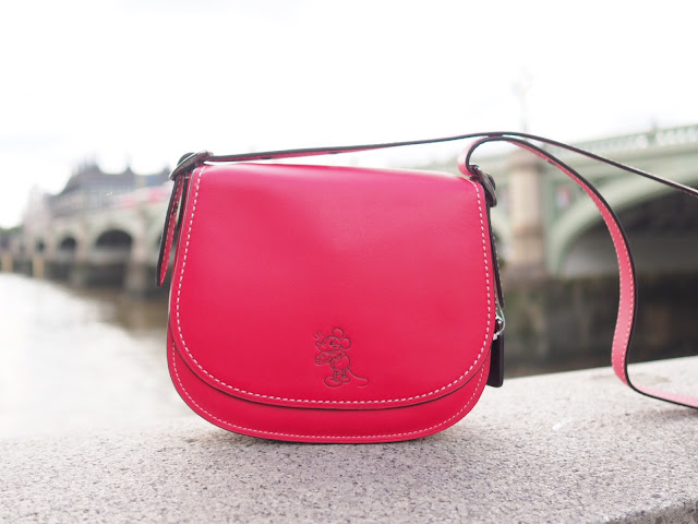 coach disney limited-edition collection, red shoulder bag