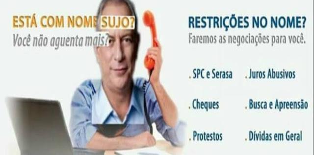 Blog do Barão- Resultado de imagem para ciro gomes vai tirar todo mundo do spc charges