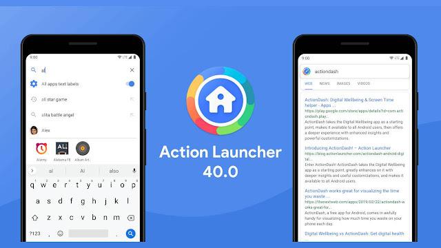 Action Launcher v40 يجلب صلاحيات بحث جديدة إلى Android