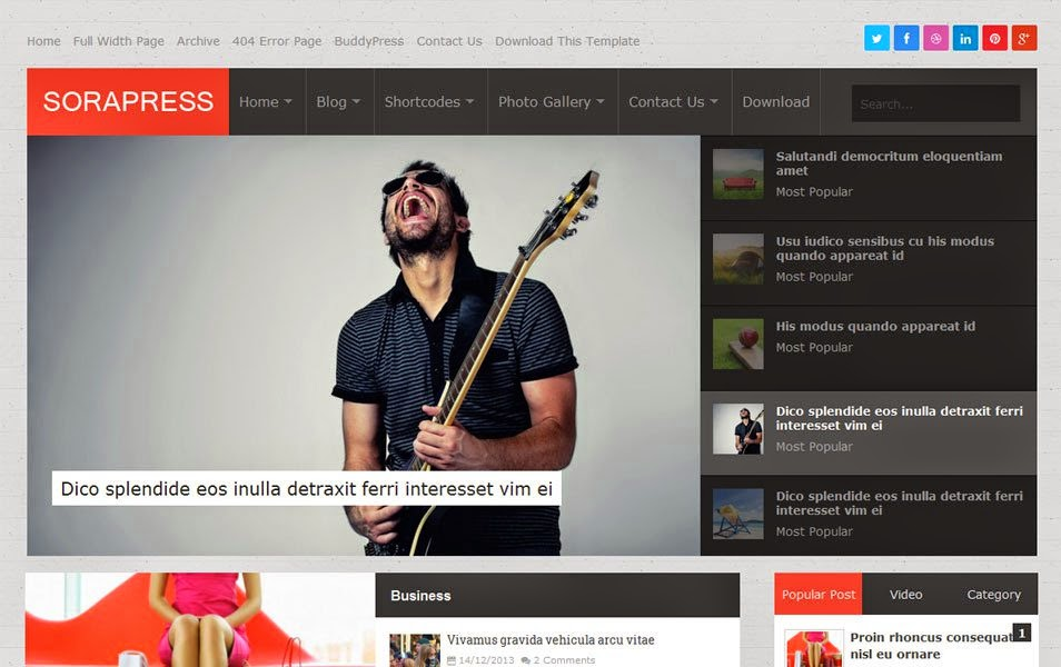 Template Blogger Sora Press Responsive