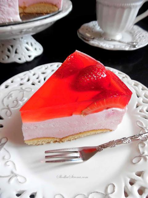 Ciasto Piankowe z Marshmallow bez Pieczenia (Ciasto Marshmallow) - Przepis - Słodka Strona