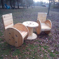 Ideas para reciclar carretes de madera