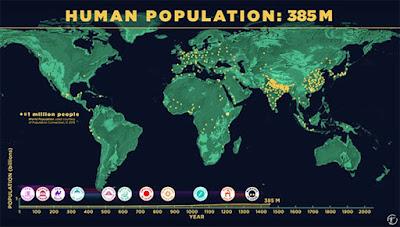 Így növekedik a Föld népessége időszámításunktól egészen 2100-ig