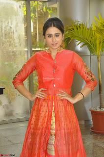 Simrat in Orange Anarkali Dress 27.JPG