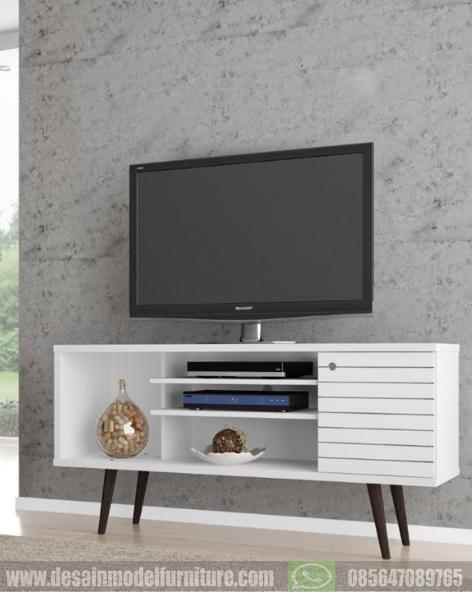 Harga bufet tv retro minimalis duco putih