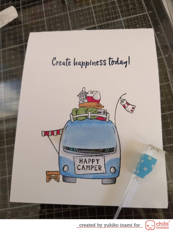 Peek the Inside of the Camping Car..... A Light Up Peek a Boo Card  ~  with the switch separated paths