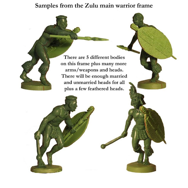 Perry Miniatures Plastic Zulu War Zulu Warriors Preview Sprue