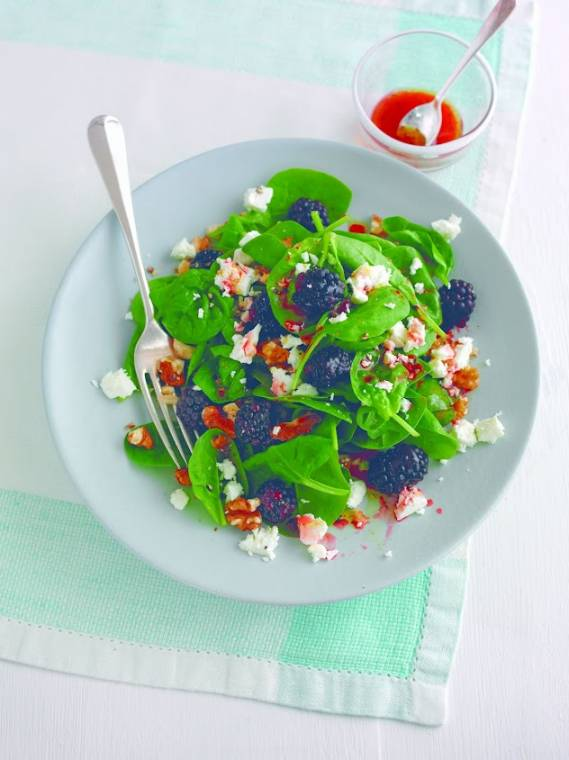 Superfast Superfood Salad, An Isotonic Sports Smoothie And Raspberry Recovery Bars