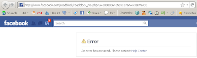 Facebook Login Using Facebook Platform Opt In Notification - An error has occurred. Please contact Help Center