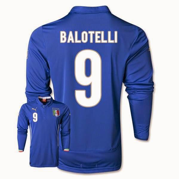 b4486faff Italy Home LS WC 2014 15 -  9 El Balotelli -  475.00