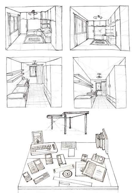 Akire 39 s portfolio prospettiva perspective for Disegnare una stanza in 3d