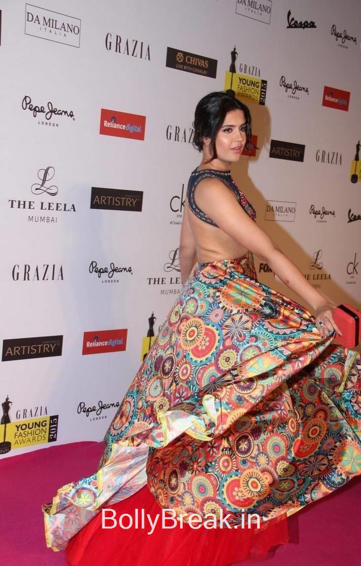 Telugu Actress Deeksha Seth, Deeksha Seth Hot Pics from Grazia Young Fashion Awards 2015