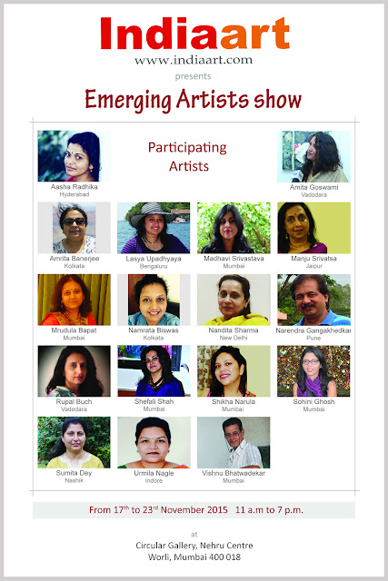 Participating Artists in Emerging Artists show presented by Indiaart.com