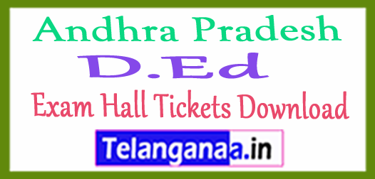 AP D.Ed Exam Hall Tickets Download