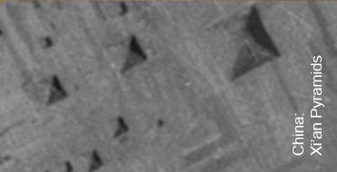 En las pirámides de Xian también es posible encontrar el mismo patrón. Sin duda es más que una simple coincidencia.