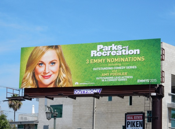 Parks and Recreation 2015 Emmy nomination billboard