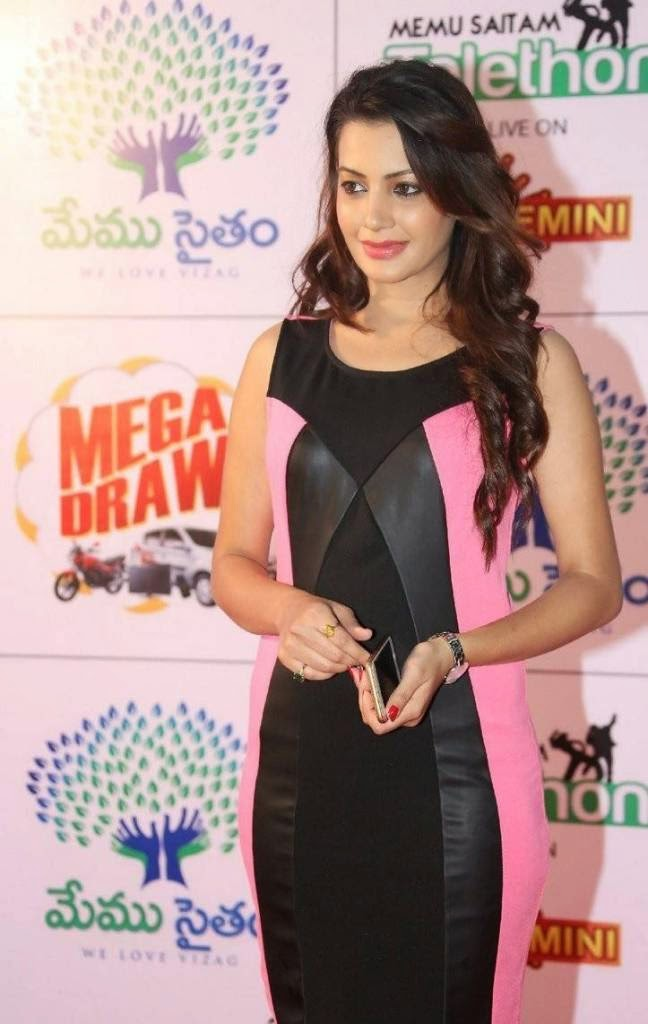 Deeksha Panth Stills, Deeksha Panth Hot HD Pics in Pink Dress