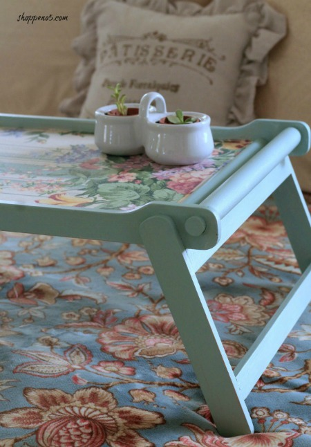 Breakfast Tray Makeover by Shoppe No 5