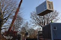 Mobile Immobilien für Kindergarten wird angeliefert