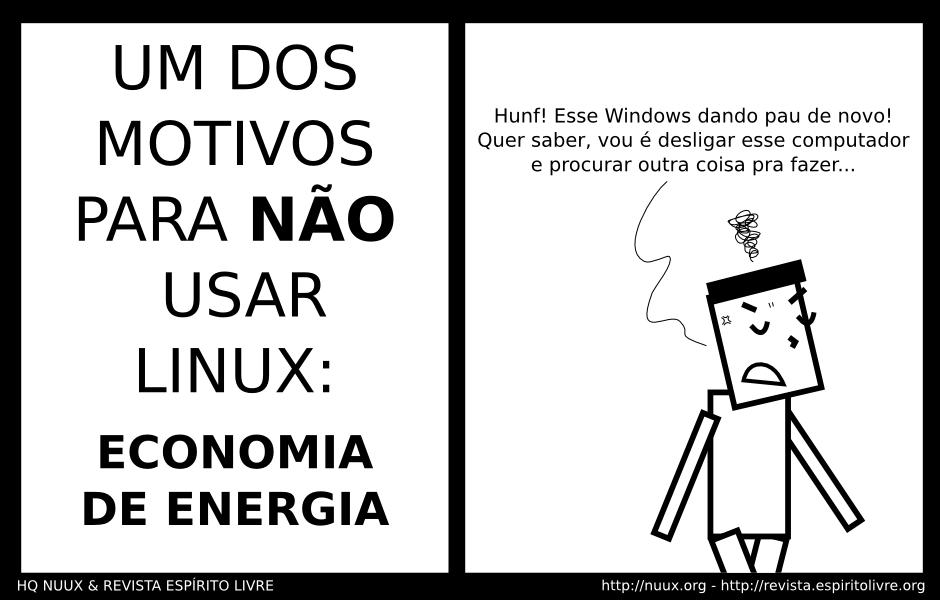 nao usar linux pela economia de energia