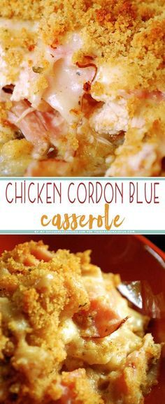 Chicken Cordon Bleu Casserole #maincourse #chicken #bordon #bleu #casserole