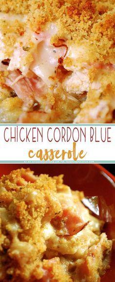 Chicken Cordon Bleu Casserole #maincourse #chicken #bordon #bleu #casserole