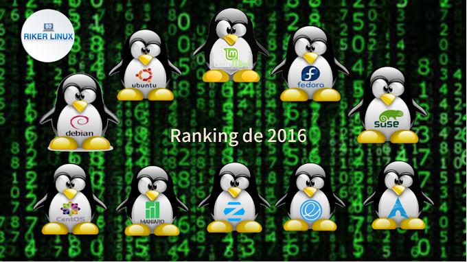 Ranking das distribuições Linux de 2016