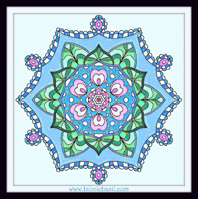 Colouring With Cats  Mandala #81 @BionicBasil®  Coloured by Cathrine Garnell 10-3-19