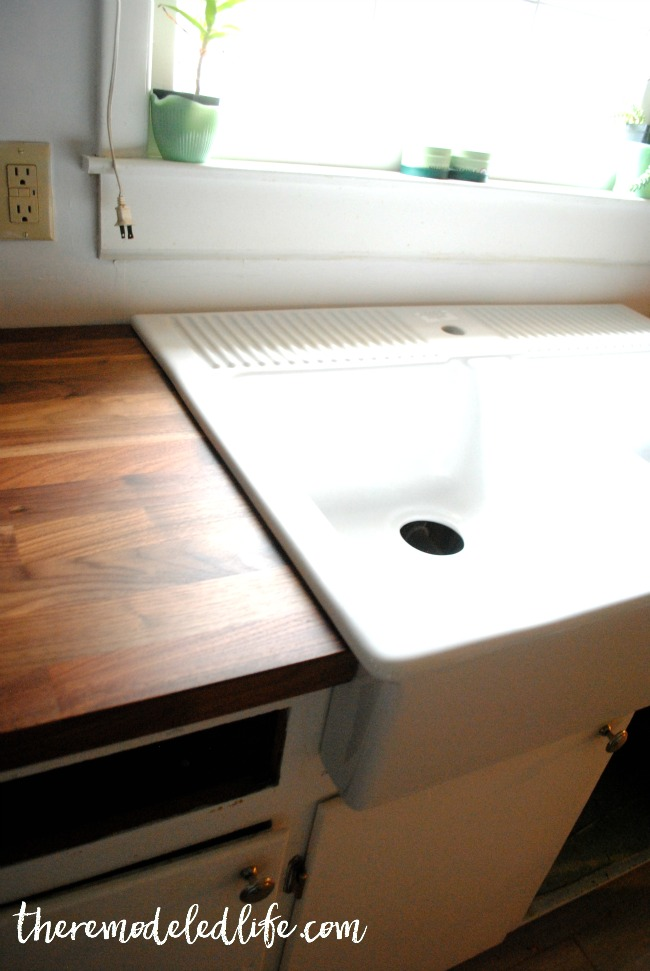 How to install butcher block countertops from ikea for Installing butcher block countertops