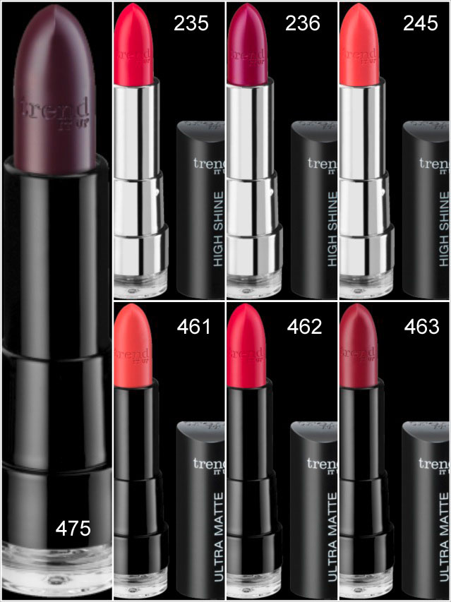 trend it Up, Highshine Lipsticks, Matte Lipsticks, neue Farben