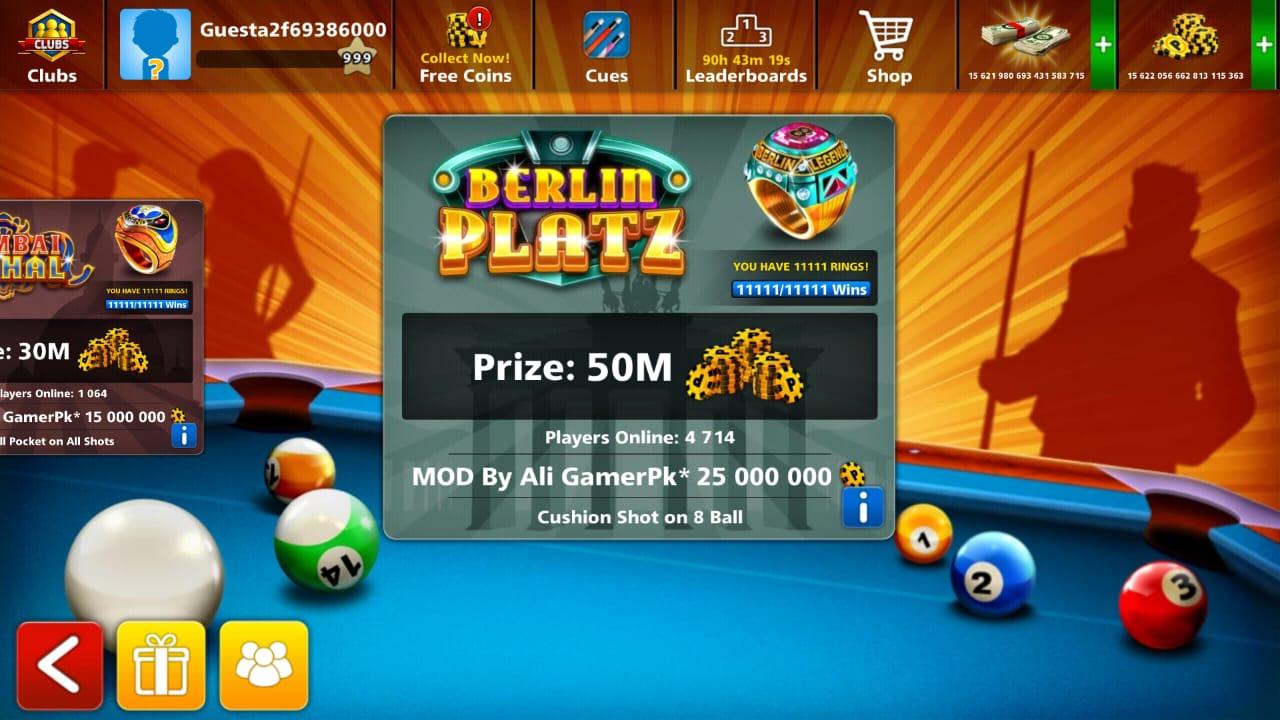 8 Ball Pool Mega Mod 4 2 0 - By Ali GamerPk & Azeem Asghar